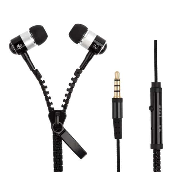 E-Shopper Zipper In-Ear Kopfhörer Mikrofon