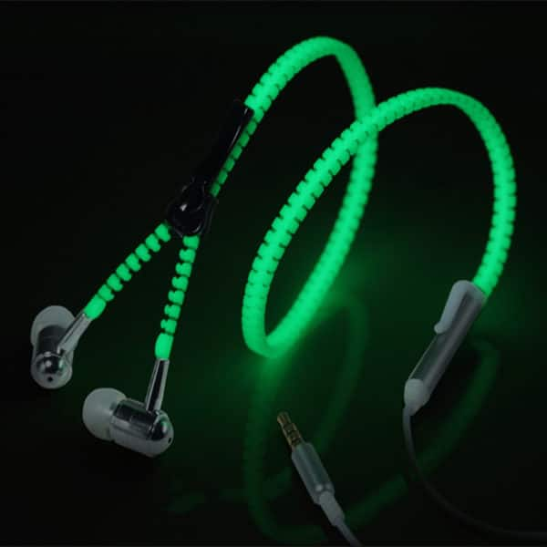 E-Shopper Leuchtender Zipper In-Ear Kopfhörer