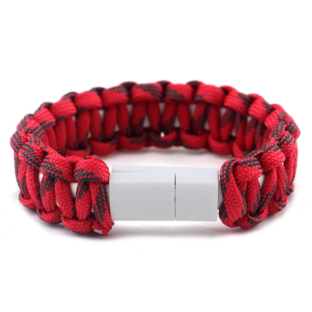 E-Shopper Armband Chargeband Nylon rot