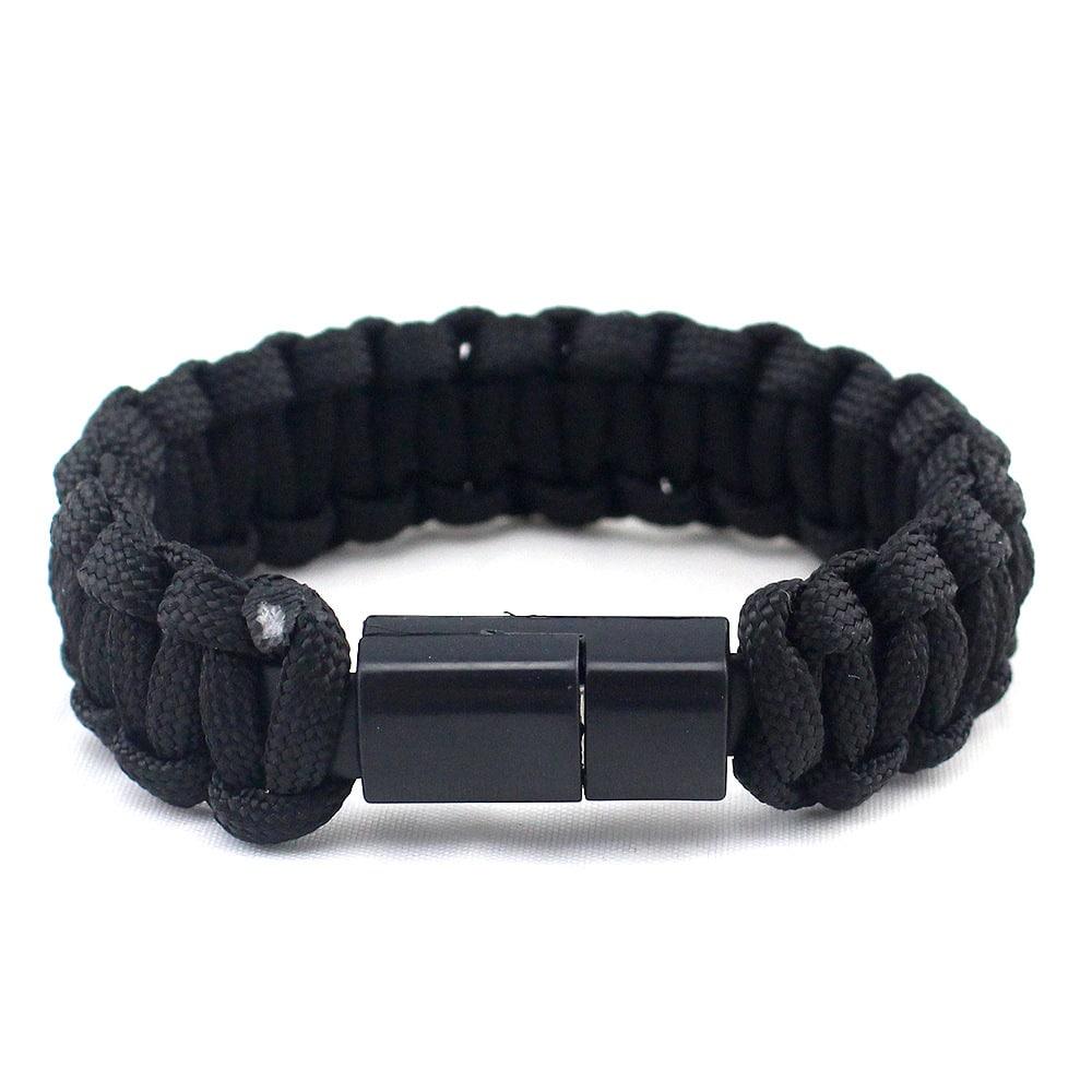 E-Shopper Armband Nylon schwarz