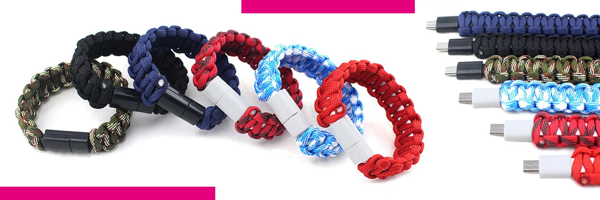 E-Shopper Armband Chargeband Nylong