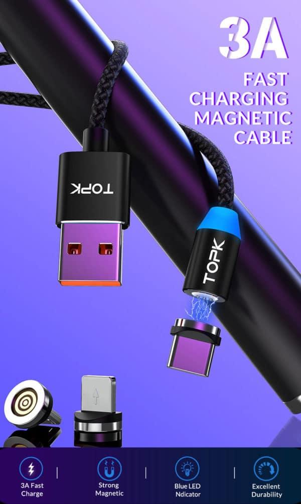 TOPK USB Ladekabel Datenkabel E-Shopper