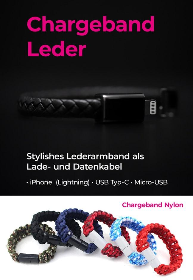 Chargeband Leder Nylon Banner E-Shopper