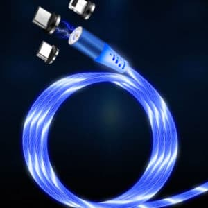 Luminous Magnetic Cable Blau