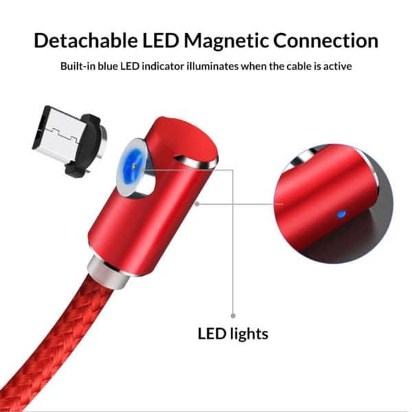 TOPK Magnetisches USB Kabel 90 Grad E-Shopper