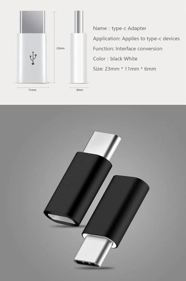 E-Shopper Adapter USB Typ-C Micro-USB