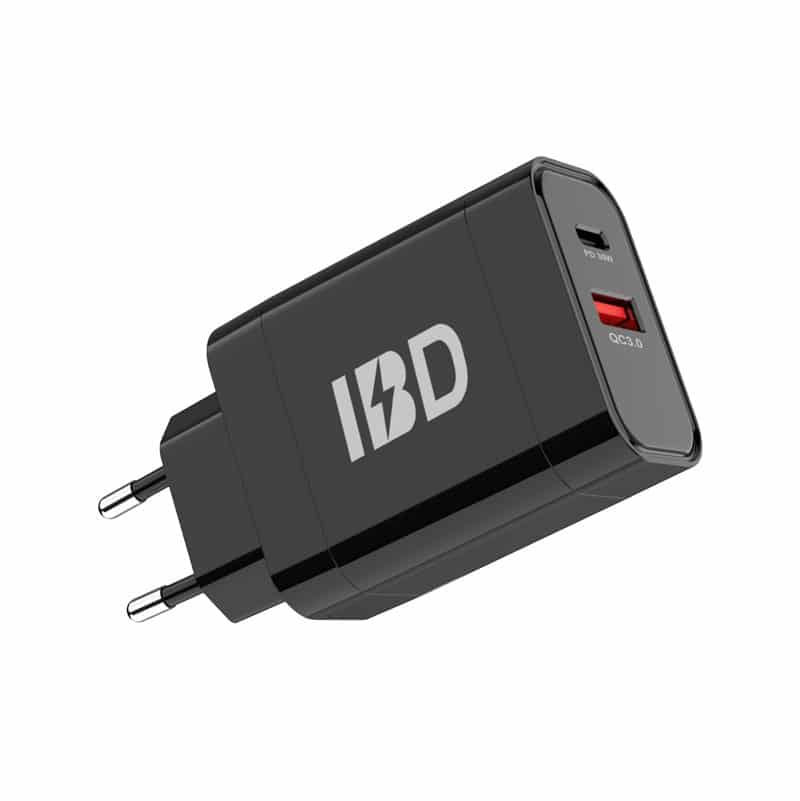 E-Shopper 18W Qualcomm 3.0 Single Port USB-Schnellladegerät schwarz