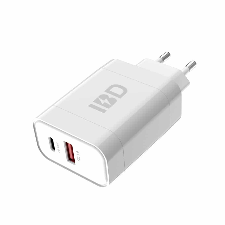 E-Shopper 18W Qualcomm USB Schnellladegerät weiß
