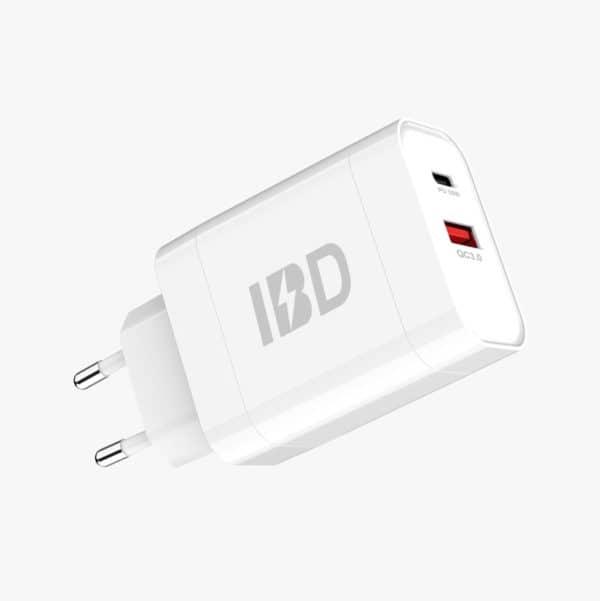 E-Shopper 18W Qualcomm USB Schnellladegerät weiß-