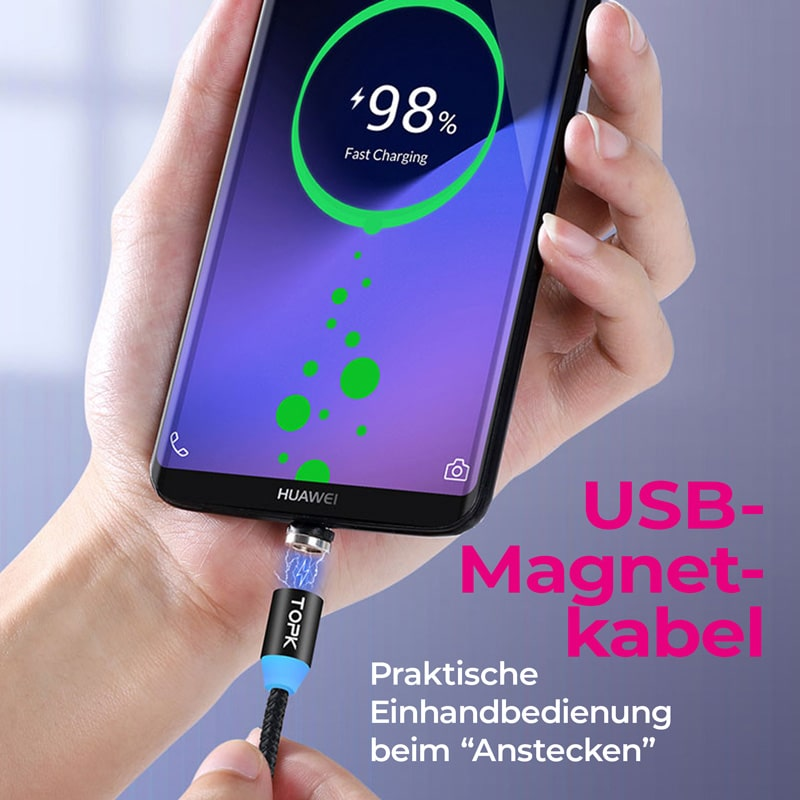 E-Shopper USB Magnetladekabel