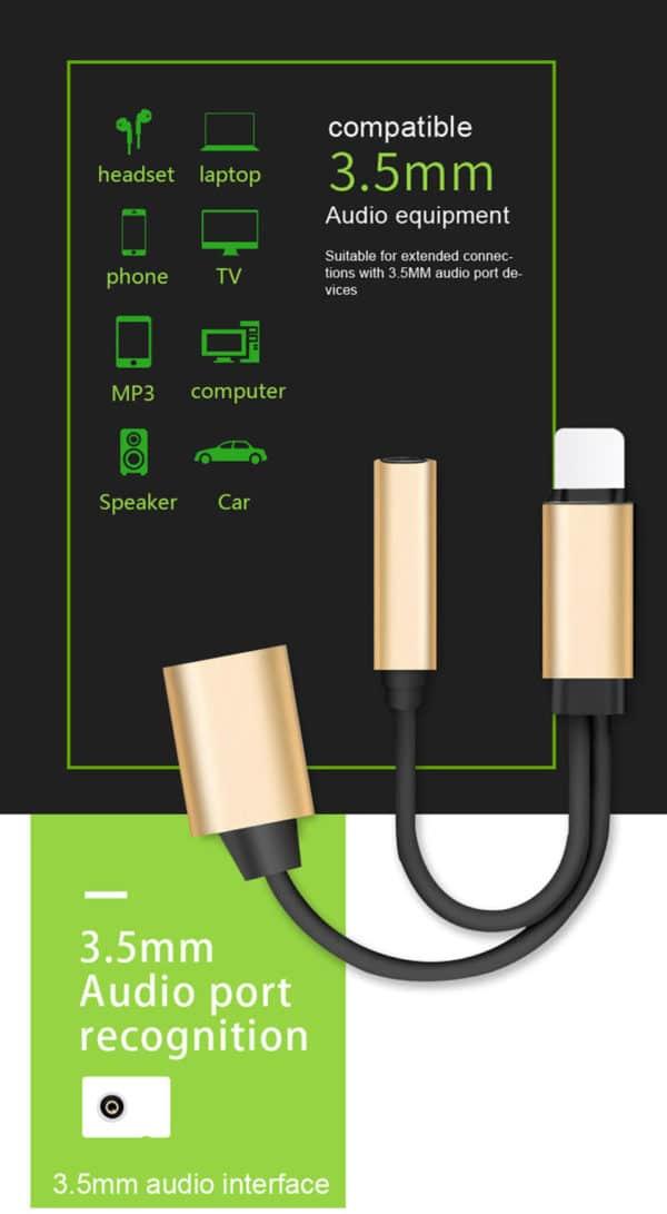 E-Shopper 2in1 Splitter Lightning 8-pin Adapter