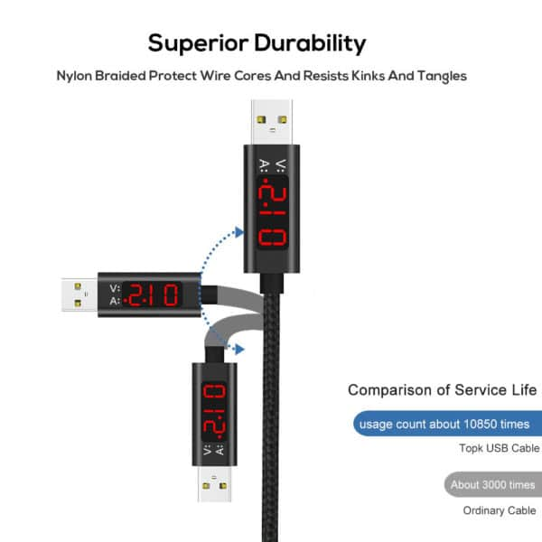 E-Shopper LCD Display Lightning (8-polig) USB-Ladekabel