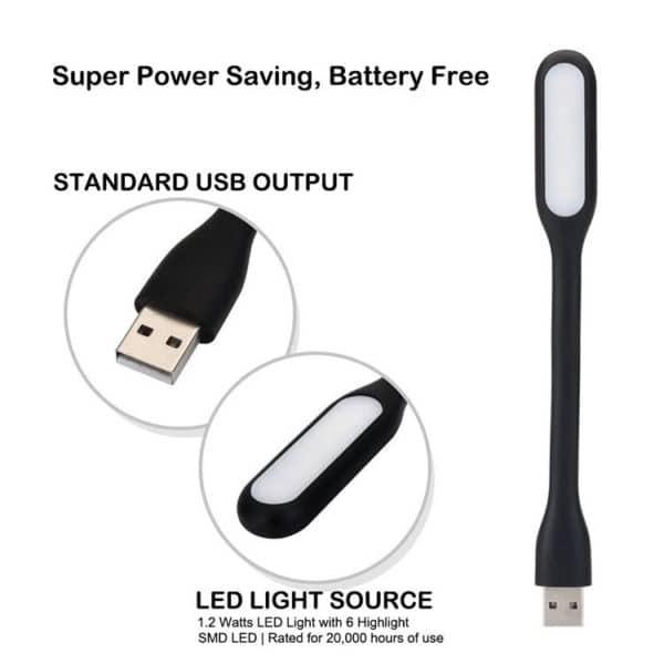 E-Shopper Flexible USB LED-Leuchte für Power Bank und Laptop