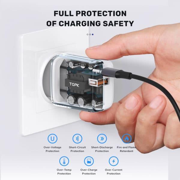 E-Shopper 20W Quick Charge 3.0 PD USB-Ladegerät weiß