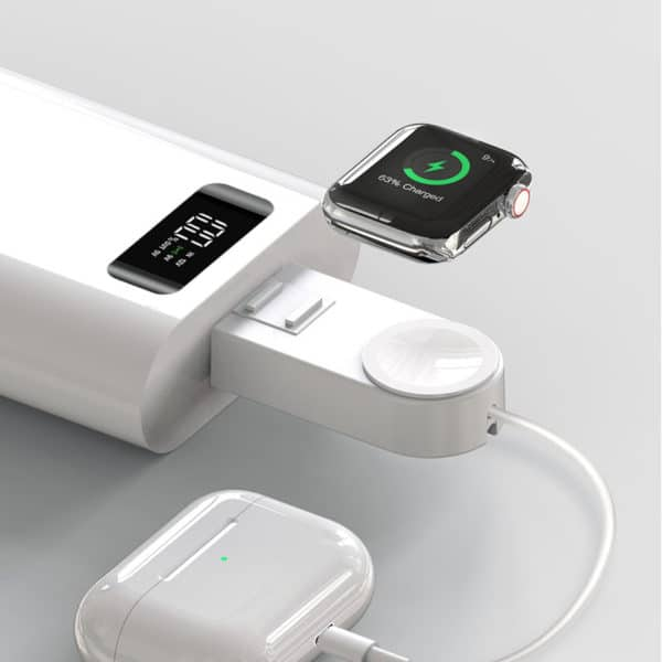 E-Shopper Magnetisches Wireless-Ladegerät für Apple Watches mit Apple Lightning (8-pin) Kabel