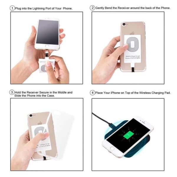E-Shopper Qi Wireless Charging Empfänger für Smartphones