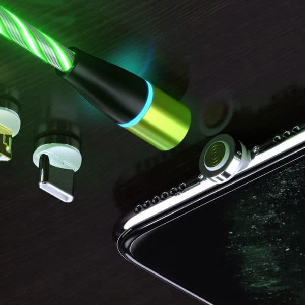 E-Shopper Magnet-Lade- und Datenkabel mit LED Flow Beleuchtung