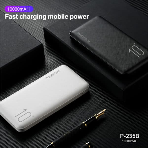 E-Shopper Dual USB Mini Power Bank Powerbank 10000mAh