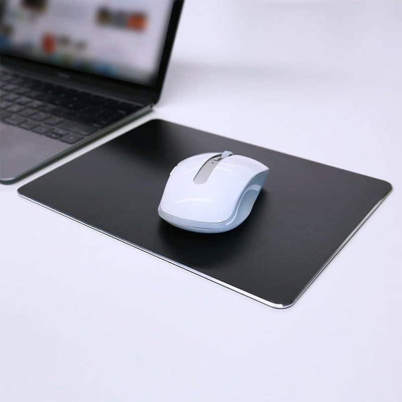 E-Shopper Rutschfestes wasserabweisendes Aluminium Mousepad