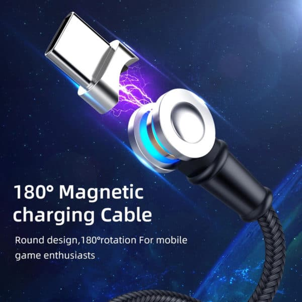 E-Shopper 180 Grad rotierendes 3in1 Magnetkabel