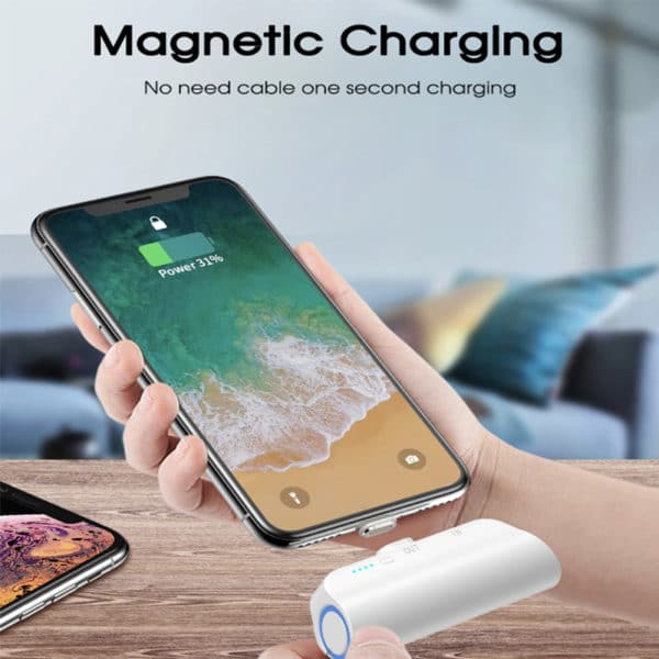 E-Shopper 3000mAh Mini-Powerbank mit Magnetstecker