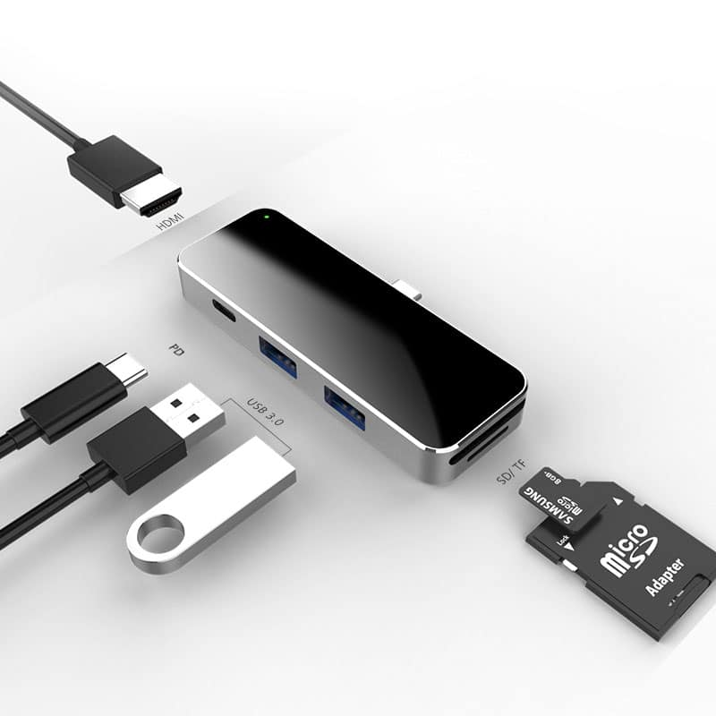 E-Shopper USB-C Hub 6in1 Multiport Adapter
