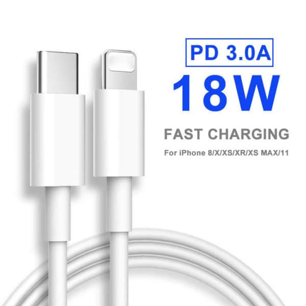 E-Shopper 20W PD Schnellladekabel Typ-C zu Lightning
