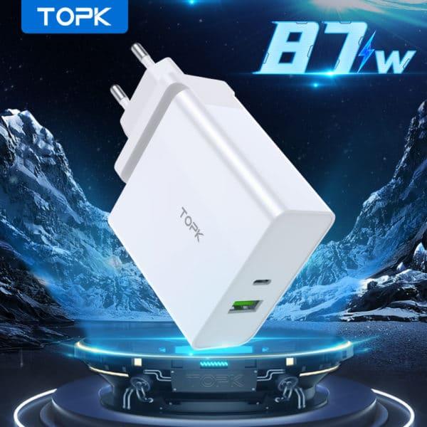 E-Shopper TOPK PD 87W Typ C Adapter Schnellladegerät 3.0